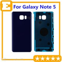 Wholesale Note Oem Glass - OEM Glass Battery Door Back Cover Housing + Adhesive Sticker For Note 5 N920F N920A N920 N920T N920i N920V N920P blue white gold 1pcs