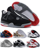 niedrige preis basketball sportschuhe groihandel-Nike Jordan Neue Produkte Klassische Basketballschuhe 4 Sports Sneakers Bester Preis Männer Schuhe Mann Zapatillas mit Box Free Drop Shipping