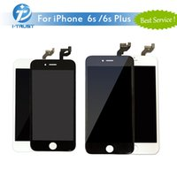 Novo LCD para iPhone 6S iphone 6S Plus Display Touch Screen Digitizer Bom reparo Repalcement para preto branco + DHL grátis