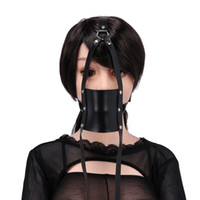 Wholesale adult sex mouth game - Fetish Head Harnesses Mouth Gag SM Restraints Mouth Stuffed Ball Sex Bondage Straps for Women Adult Slave Game Toy