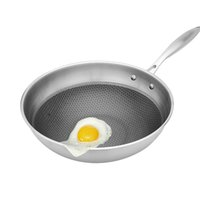 Wholesale Induction Cooker Used - High Quality Non-stick Layer Pan Deep Wok Frying Pan Flat Bottom Cookware Use for Gas and Induction Cooker,durable