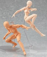13cm Figma Archetype Transparent Ver. She He Doll PVC ACGN Action Figure Toys Brinquedos Body Kun Chan
