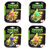 Wholesale Wholesale Kids Plastic Toys - Novelty Thumb Chucks Glow In The Dark Finger Toys finger balls Begleri Bundle Anti Stress Fidget Yoyo New Arriva For Free DHL BEY064