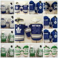 Wholesale Mens Hoodie Sweaters - Mens Toronto Maple Leafs Jerseys #34 Auston Matthews #16 Mitch Marner #29 William Nylander Hoodie Sweater Hockey Jerseys Free Shipping