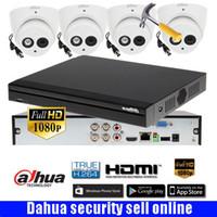 Wholesale Ir Dome Camera Audio - Dahua DH-XVR5104HS-S3 4ch CVI Security Camera System 2Megapixel 1080P Waterproof HDCVI IR Eyeball audio Camera HAC-HDW1220EM-A camera kit