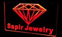 Wholesale New Diamond Neon - Ls212-r Sapir Jewelry Diamond OPEN NEW Neon Light Sign Decor Free Shipping Dropshipping Wholesale 6 colors to choose