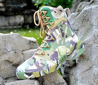 Wholesale Summer Combat Boots - 2016 New America Sport Army Mens Military Tactical Boots Outdoor Hiking Camouflage Leather Desert Boots Male Combat Shoes O1479
