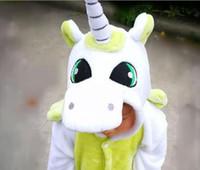 bebek güzel pijama toptan satış-13 stilleri caroet Pegasus Unicorn Amerika tarzı Bebek çocuklar Güzel moda tasarım kalınlaşma Çocuk ev giyim Siyam hayvanlar pijama