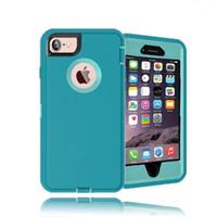 housses iphone couvert achat en gros de-Housse de protection hybride de qualité supérieure pour iPhone 7 Plus 6 6S Plus 5 5S SE Housses de protection double couche, DHL Livraison gratuite