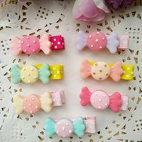 Wholesale Mixed Resin Clips - 30pcs lot Hair Bows with Clips Baby Girls resin candy Hairpins Barrettes Childrens Hair Accessories Colors mixed