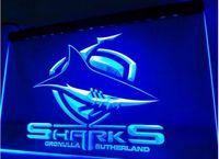 Wholesale Shark Night Lights - Sharks Cronulla Sutherland beer bar pub club 3d signs LED Neon Light Sign