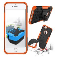 Für Iphone 7 Iphone7 4.7 '' / Plus I7 Rüstung Rugged Square Hybrid Spinne Hard PC Plastic + Soft TPU Silikon Hülle Stand ShockProof Skin Cover