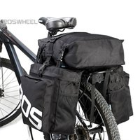 Wholesale rear rack bag pannier resale online - ROSWHEEL L MTB Mountain Bike Rack Bag Rear Seat Trunk Bag in Multifunction Road Bicycle Pannier New Arrival Hot Sell
