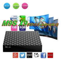 Fabrik Verkauf M9S X9 4K Android 6.0 TV Box RK3229 Quad Core 1GB 8GB Set Top Box voll beladen KD17.3 Jarvis Smart OTT Boxen