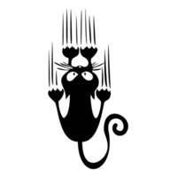motif de fenêtre en vinyle achat en gros de-Nouveau style voiture style étanche chat modèle personnalité autocollant de voiture drôle animal vinyle autocollant voiture fenêtre pare-chocs