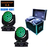 Freeshipping 2XLot 36pcs 10W RGBW смешивание цветов 4in1 Zoom Led Moving Head Light Club DJ Party Stage Lights с кабелем DMX TP-L620A