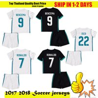 Wholesale Youth Soccer Uniform Jerseys - Top Thailand 2017 18 Real madrid kids soccer Jersey 17 18 boys youth children RONALDO BALE ISCO MODRIC football shirt uniform +10 free DHL