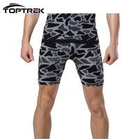 Wholesale Plus Size Leopard Tights - Wholesale-Toptrek Clothing Men Tight Shorts Wild Leopard Camouflage Camo Comfortable Breathable Quick Dry For Outside Wear MA36
