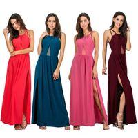 cotton summer dress xl Australia - 017 spaghetti strap solid summer dress sexy asymmetrical club maxi dress comfortable cotton skirt size S-XL