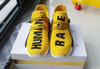 Wholesale Originals NMD Human Race Running Shoes Men Women Pharrell Williams NMD Runner Boost Shoes Yellow Grey Black White Red Green Blue eur