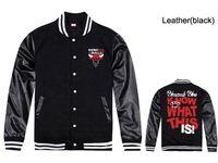 Wholesale Bulls Coat - YMCMB jackets sweatshirts men fleece hip hop clothes new style gansta bulls black leather sleeve coat outdoor baseball clothes