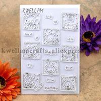 Wholesale Bear Rubber Stamp - Wholesale- Little Bear baby sweet hello Scrapbook DIY photo cards account rubber stamp clear stamp transparent stamp 10.5x15cm KW691020