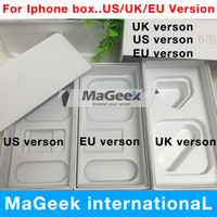 Wholesale Phone Dhl Uk - 100pcs lot high Quality US EU UK Version Phone Pack Packaging Box Case For iPhone 7 6 6s 6s plus i5 5s se no Accessories DHL send