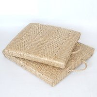 Handmade square straws - 2017 NEW Put the cushion rushes square with pure plant hand woven straw crafts portable seat cushion