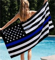 Wholesale police flags - BlueLine usa Police Flags, 3 By 5 Foot Thin Blue Line USA Flag Black, White And Blue American Flag With Brass Grommets Banner Flags I033