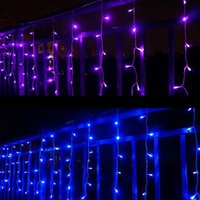 Wholesale 96 White Curtains Wedding - Icicle String Light 3.5M*96 LEDS Curtain Fairy LED Lights for Christmas Wedding Party Holiday Decoration