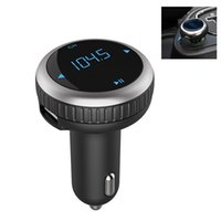 Wholesale Blue Tooth Kits - Wholesale- Bluetooth FM Transmitter Handsfree Blue tooth Car Kit SD mp3 car Player LED Display Dual USB car charger FM Modulator
