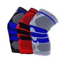 Wholesale kneed pad resale online - Knee Pads New Men and Women Silicone Fitness Outdoor Sports Knees Brace Knitting Anti Collision Protective Equipment Hot Sale ql F
