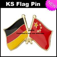 Wholesale China Wholesale Buttons - Germany China Flag Badge Flag Pin 10pcs a lot Free shipping 0003