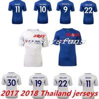 Wholesale Shirt Drop Shipping - Wholesale Cheap Thailand 2017 2018 CHELSEA Soccer jerseys Morata HAZARD KANTE DIEGO COSTA FABREGAS DAVID LUIZ Football Shirts Drop shipping
