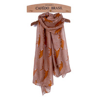 Wholesale infinity scarves online - New Design Scarf Lovely Fox Shawls For Women Shawls Infinity Scarf Loop Animal Print Ring Scarves Small Fox