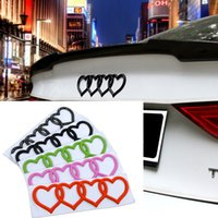 Wholesale Heart Decals - For Audi Heart Love Trunk Badge Emblem Car Logo Rear Decal Sticker Replacement For Audi A3 A4 A6 A8 Q5 Q7 TT RS6