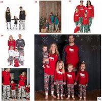Wholesale Wholesale Matching Winter Sets - Christmas Pajamas Family Matching Clothes Christmas Pajamas Clothing Sets Mother and Daughter Father Son Matching Xmas Homewears 911