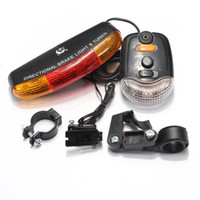 Atacado- OUTERDO 3 em 1 MTB Bike Turn Signal Brake LED Light 7 LED 8 Tunes Chifre Elétrico Lâmpada de bicicleta 3 Light Models Cycling Lights