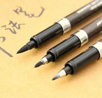 dibujos de alfileres al por mayor-Al por mayor-3pcs chino japonés caligrafía cepillo conjunto tamaño S M L