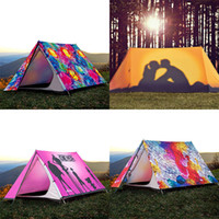 Wholesale Outdoor camping tents double camping tents thickening professional rainproof anti ultraviolet personality creative tents High quality portab