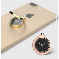 Wholesale Mobile Watch Case - Mobile Phone Holder Figer Phone Ring Metal Magnet Bracket 360 Degrees Magnetic Phone Ring Holder Watch Ring Car Navigation Frame Zinc Alloy