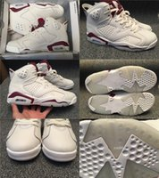 "Wholesale Red Light Products - New Products Air retro 6 Men basketball shoes AIR 6 RETRO ""MAROON"" sneaker Infrared Red discount shoes With Box Free Shipping"