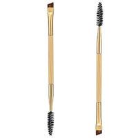 Wholesale comb eyelashes resale online - Makeup Bamboo Handle Double Eyebrow Brush Eyebrow Comb Eyelash And Makeup Brush Tools New