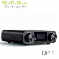 usb kulaklık amplifikatörleri toptan satış-Freeshipping HIFI Kayıpsız Oyuncu AK4452 Ses USB DAC Çözme Dijital Turntable Kulaklık Amplifikatör SD Kart / Optik / USB Girişi DC9V