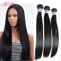 Wholesale One Bundle 14 Peruvian - BD New Big Sale Cheap Human Hair Virgin Peruvian Straight Hair 3 4 Bundles One Set