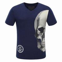 Wholesale German T Shirts - Original German Brand Men's Short Sleeve T-shirt Fashion Crime designer Skull Hip Hop High Quality Print Medusa qpT-shirt #1121