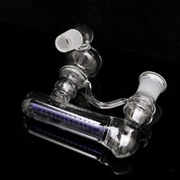 Wholesale Hot Bend Pipe - Hot! two size of 18.8MM  14.5MM Inline Glass Water Percolator Ash Catcher Smoking Pipe Bong Accessory 2 Sizes Assorted