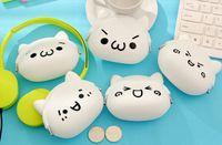 Wholesale Smiley Face Purses - Wholesale- 1PIECE Random Model Super CUTE 10*7.5CM Smiley Faces - Silicone HAND Coin Purse & Wallet Pouch Case BAG ; KEY Wallet BAG