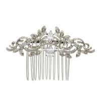 ingrosso pettine d'argento d'argento vintage-Vintage placcato argento donne forcine cristalli di strass pettini accessori per capelli da sposa sposa gioielli 4012r