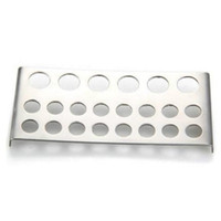 Wholesale Wholesale Beauty Supply Free Shipping - Stainless Steel Shelf Stand Tip Supply Tools 22 Holes Tattoo Pigment Ink Cap Cup Holder Body Beauty Free Shipping